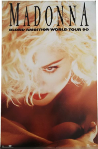 "BLOND AMBITION TOUR - OFFICIAL 35"" x 23"" POSTER"